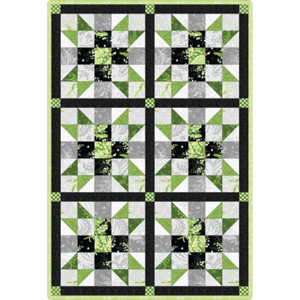 Sister's Choice 6 Block Quilt Pod Greenery 32 x 47