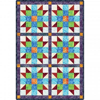 Pods Sister's Choice 6 Block Quilt Batik
