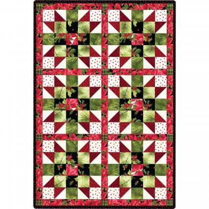 Maywood Studio - Poinsettia & Pine - Sister's Choice Quilt KIT - MAS05-PAP