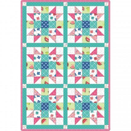 6 Block Sister's Choice Quilt Pod, 32 x 47,  Sprinkle Sunshine