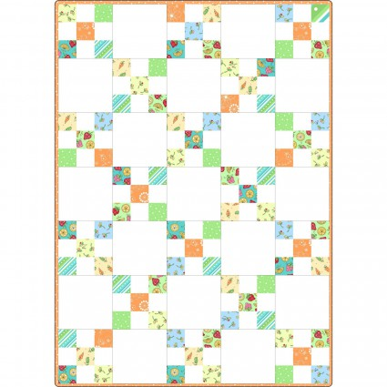 Irish Chain Quilt Pod Lil' Sprout Flannel Too! 30 x 42