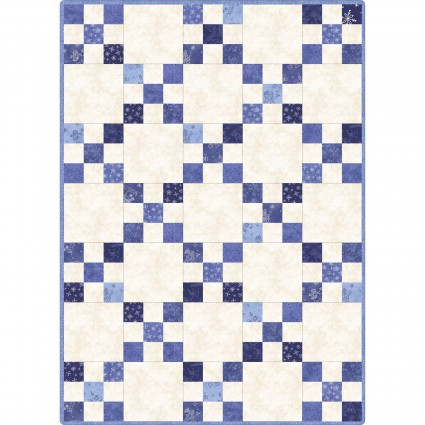 Roly Poly Snowmen Quilt Kit- Irish Chain