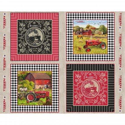 Farmall Toile Pillow Panel<br/>Print Concepts 10337