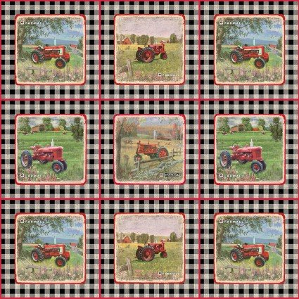 Farmall Gingham Patch<br/>Print Concepts 10338