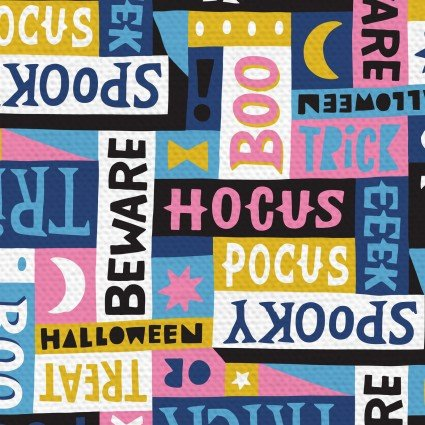 Halloween Night Word Art Pink by Paintbrush Studios