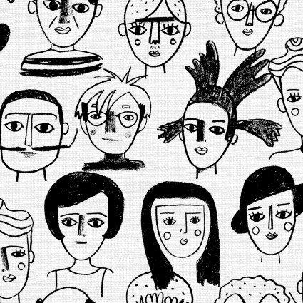 Art History/Black and White: Friends & Faces (Carolyn Suziuki)