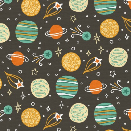 Space Monkey Planets - Yellow & Green