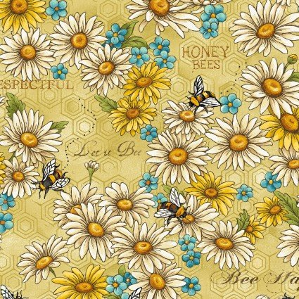 Bee Kind Flowers & Works Gold