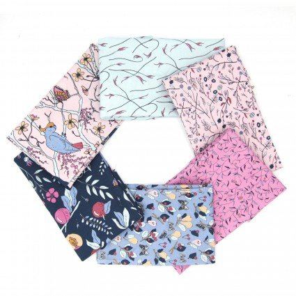 Paintbrush Cockatoos, Peaches & Pears-Pink by Kristina Hultkrantz 6pc