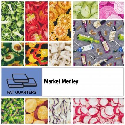 Fat Quarter Market Medley set of 20