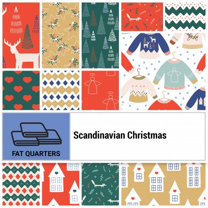 Scandinavian Christmas - fat quarter bundle