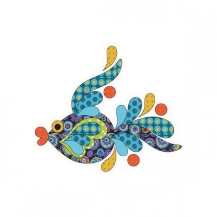 Appliqué Tropical fish - Blue