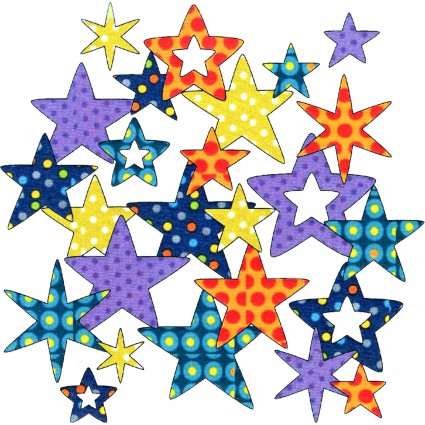 Stars Assortment - Dotz<br/>Applique Elementz UEA-1103
