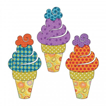 Sweet Treats - Ice Cream Set<br/>Applique Elementz 1107