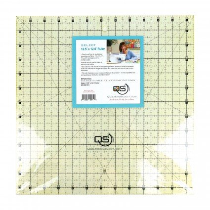 QUILTERS SELECT NON-SLIP RULER 12.5 X 12.5