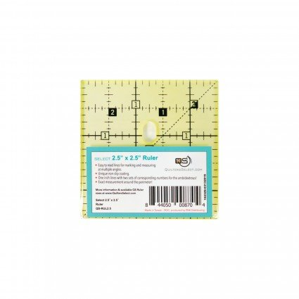 Quilters Select Quilting Ruler 2.5 x 2.5