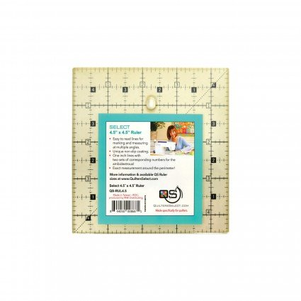 QUILTERS SELECT NON-SLIP RULER 4.5 X 4.5