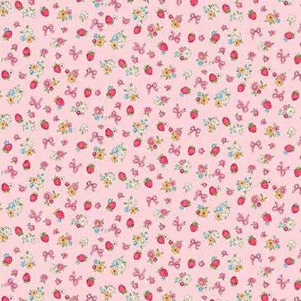 Dear Little World Pink: Margaret & Sophie III Fabric by Quilt Gate