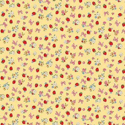 Dear Little World Yellow: Margaret & Sophie III Fabric by Quilt Gate