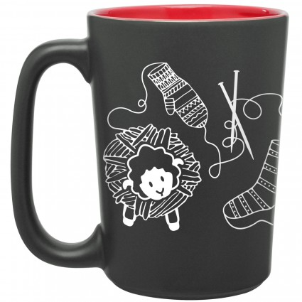 Knitting Scribbles Mug