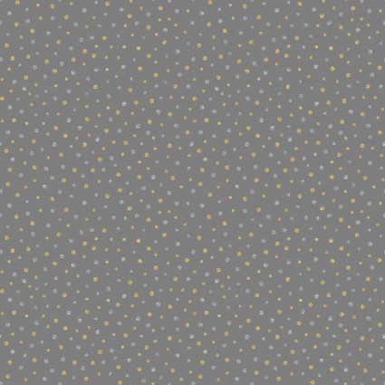 Sparkle Grey with Silver/Gold Dots