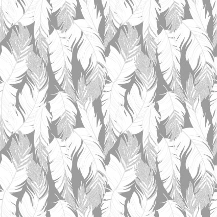 Sparkle Silver Feathers