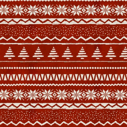 Christmas Campers Stripe