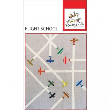 RDQ0001 Flight School Pattern 57 by 70 inch Quilt