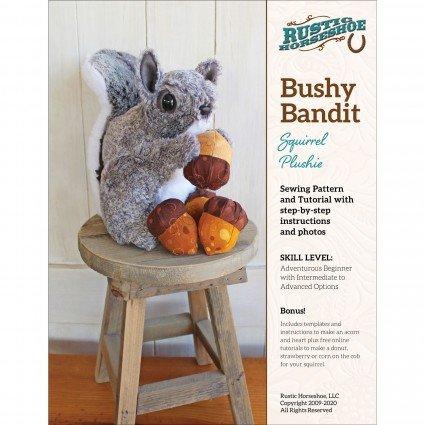 Bushy Bandit Squirrel Stuffed Toy Pattern