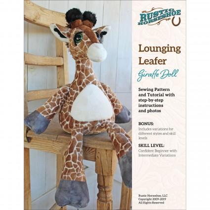 Lounging Leafer Giraffe Stuffed Toy Pattern