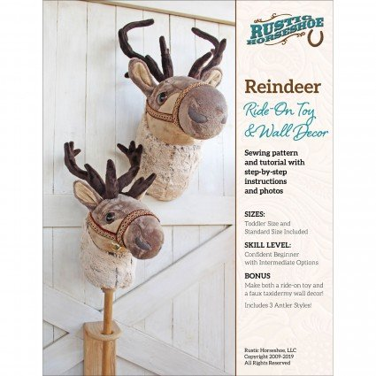 Reindeer Ride-On Stuffed Toy And Wall Decor Pattern