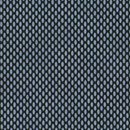 Home Essentials - Oval - Black/Blue Fabric