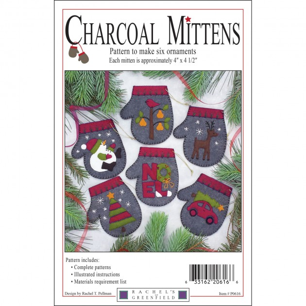 Charcoal Mittens (Pattern Only) - Rachel's Of Greenfield