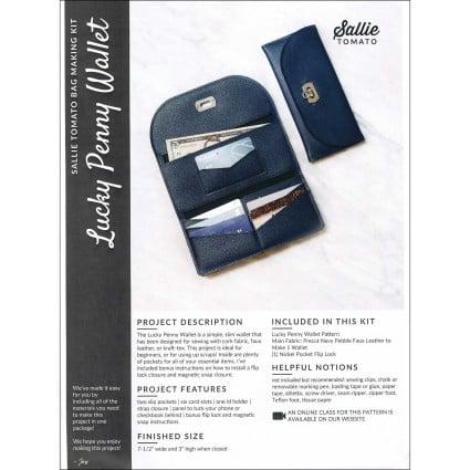 PRECUT Lucky Penny Wallet Kit with Flip Lock