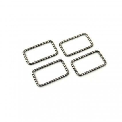1.5 Rectangle Ring -  Black 4 pcs