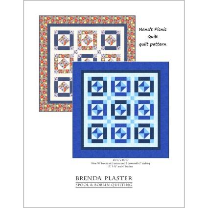 Nana's Picnic Quilt by Brenda Plaster for Spool & Bobbin Quilting
