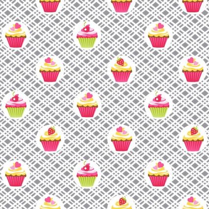 Cupcake Cafe 3895 Grey Cupcakes
