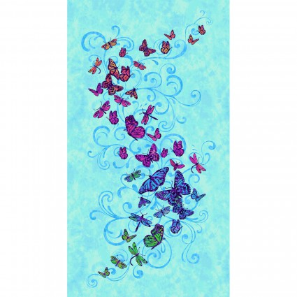 **Aflutter 3910 77BLUE BUTTERFLY PANEL