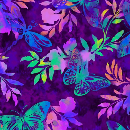 AFLUTTER BY ELIZABETH ISLES MULTI COLORED BUTTERFLY &FOLIAGE 3914177
