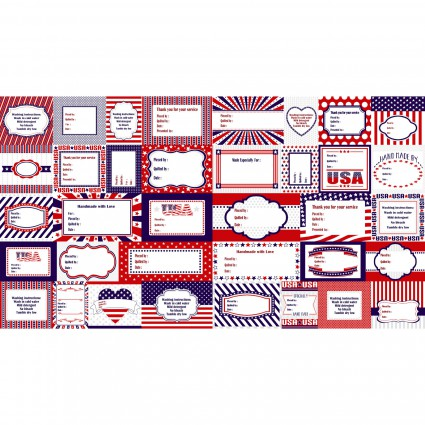 Red, White & Starry Blue Labels Panel