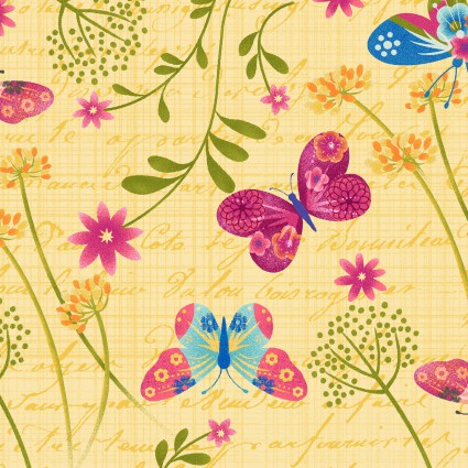 Dancing Wings by Jennifer Brinley for Studio E Fabrics