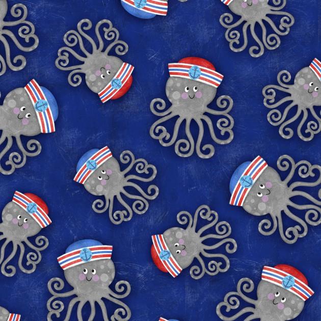 Anchor's Away Blue Octopus