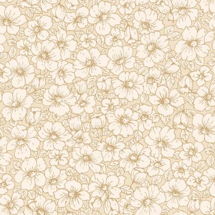 Studio E - Cream & Sugar VII - Floral Tan on Tan SEF4111-44