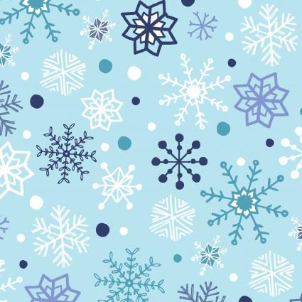 Snow Happy Blue Snowflakes 4188