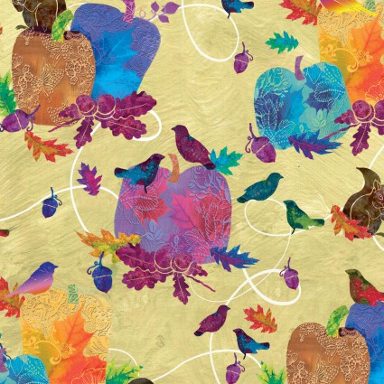 Autumn Hues-Birds n Applies Cream