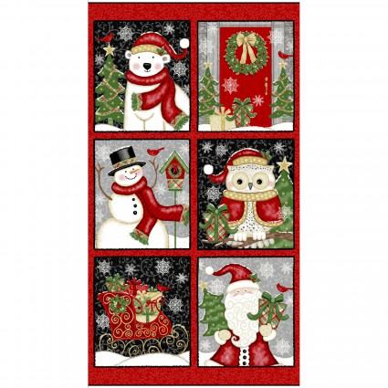 Winter Greetings - Red Blocks Panel