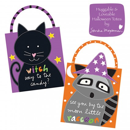 Item#11067.A - Huggable & Loveable Halloween Totes Panel - Studio E