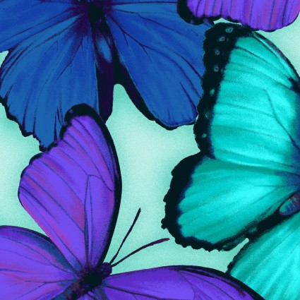 Studio E Viva Terra Teal Large Butterfly
