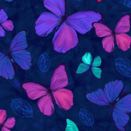 Studio E Viva Terra Indigo Small Butterfly