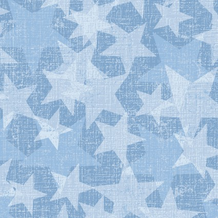 All American Road Trip Light Blue Stars